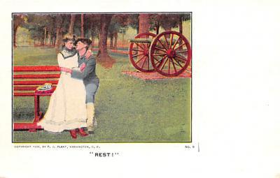 mil201245 - Military Comic Postcard, Old Vintage Antique Post Card