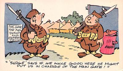mil201273 - Military Comic Postcard, Old Vintage Antique Post Card