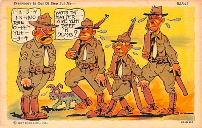 mil201279 - Military Comic Postcard, Old Vintage Antique Post Card