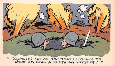mil201313 - Military Comic Postcard, Old Vintage Antique Post Card