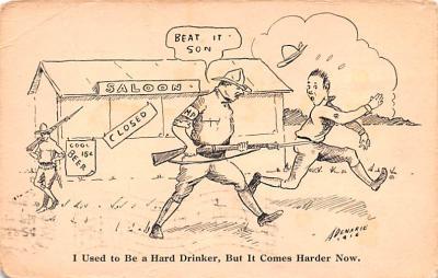 mil201320 - Military Comic Postcard, Old Vintage Antique Post Card