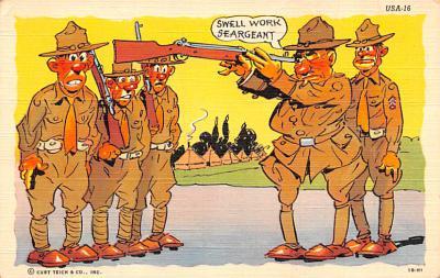 mil201323 - Military Comic Postcard, Old Vintage Antique Post Card