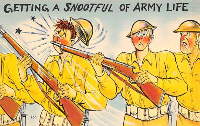 mil201340 - Military Comic Postcard, Old Vintage Antique Post Card
