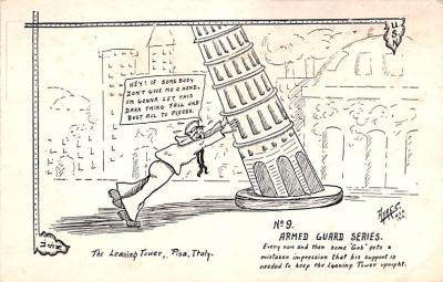 mil201342 - Military Comic Postcard, Old Vintage Antique Post Card