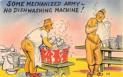 mil201364 - Military Comic Postcard, Old Vintage Antique Post Card