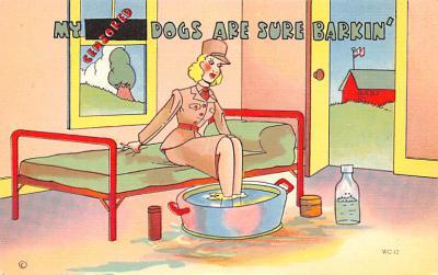 mil201386 - Military Comic Postcard, Old Vintage Antique Post Card