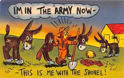 mil201398 - Military Comic Postcard, Old Vintage Antique Post Card
