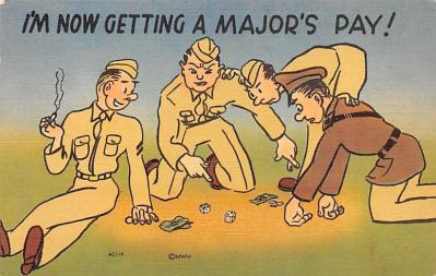 mil201409 - Military Comic Postcard, Old Vintage Antique Post Card