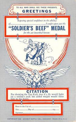 mil201436 - Military Comic Postcard, Old Vintage Antique Post Card