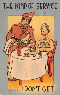 mil201455 - Military Comic Postcard, Old Vintage Antique Post Card