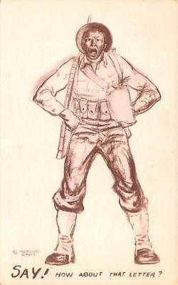 mil201457 - Military Comic Postcard, Old Vintage Antique Post Card