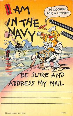 mil201458 - Military Comic Postcard, Old Vintage Antique Post Card