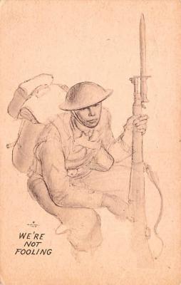 mil201474 - Military Comic Postcard, Old Vintage Antique Post Card