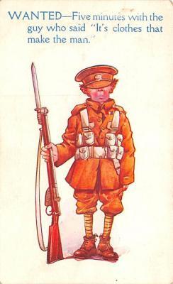 mil201500 - Military Comic Postcard, Old Vintage Antique Post Card