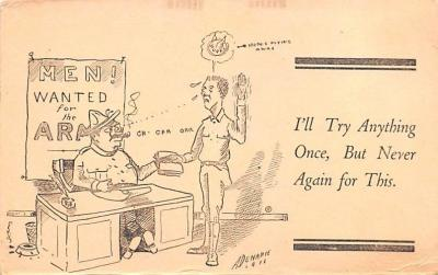 mil201513 - Military Comic Postcard, Old Vintage Antique Post Card