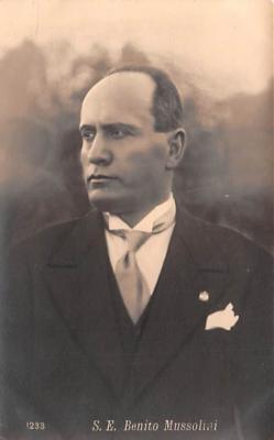 mil300015 - Benito Amilcare Andrea Mussolini, Italian leader of the National Fascist Party