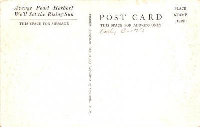 mil400103 - Military Post Card Old Vintage Antique Postcard  back