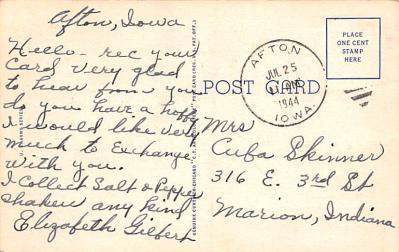 mil400113 - Military Post Card Old Vintage Antique Postcard  back