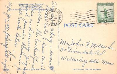 mil400189 - Military Post Card Old Vintage Antique Postcard  back