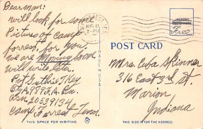 mil400197 - Military Post Card Old Vintage Antique Postcard  back