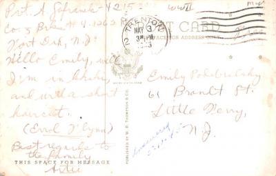 mil400225 - Military Post Card Old Vintage Antique Postcard  back