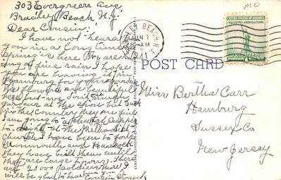 mil400253 - Military Post Card Old Vintage Antique Postcard  back