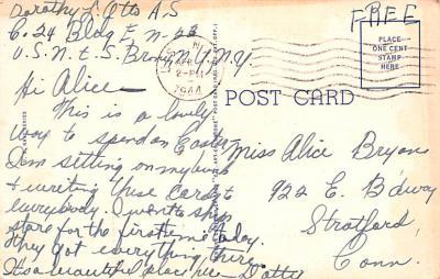 mil400259 - Military Post Card Old Vintage Antique Postcard  back