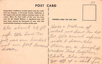 mil400281 - Military Post Card Old Vintage Antique Postcard  back