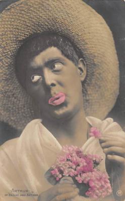 min000004 - Arthur of Bedini and Arthur Minstrel Postcard Post Cards Old Vintage Antique