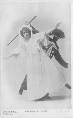 min000005 - Miss Alice Lethbridge Minstrel Postcard Post Cards Old Vintage Antique