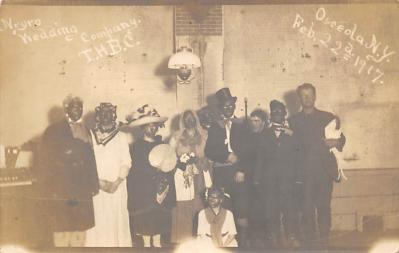 min000015 - Osceola NY USA Feb 22nd 1917 Minstrel Postcard Post Cards Old Vintage Antique