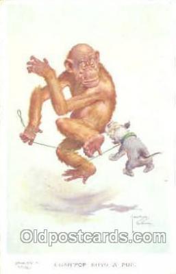 mky001008 - Artist Lawson Wood, Monkey, Monkeys Postcard Postcards