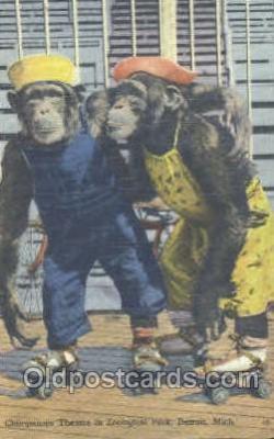 mky001021 - Zoological Park, Detroit Michigan, USA, Monkey, Monkeys, Gorilla, Gorillas Postcard Postcards