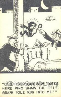 mky001025 - Artist Signed Bill Crouch, Monkey, Monkeys, Gorilla, Gorillas Postcard Postcards