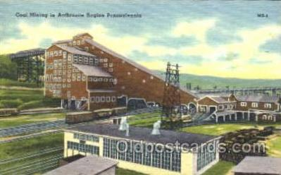 mng001007 - Coal Mining in Anthracite Region, Pennsylvania, USA Postcard Postcards
