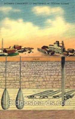 mng001037 - Salt Mining in Central Kansas, USA,  Postcard Postcards