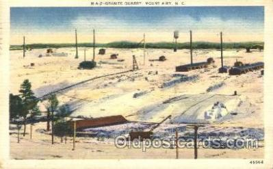 mng001043 - Granite Quarry Mount Airy, NC, USA Postcard Post Cards Old Vintage Antique