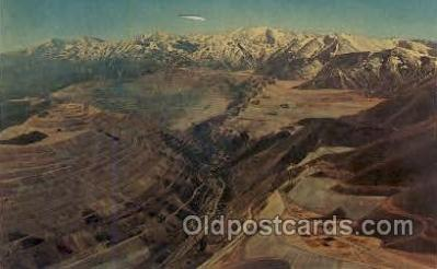 mng001105 - Bingham Copper Mine, Utah, USA Mining Postcard Postcards