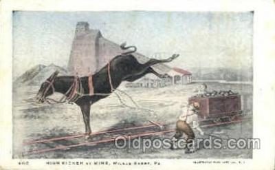 mng001141 - high kicker at mine, PA, Pennsylvania, USA Mine, Mining, Postcard Postcards