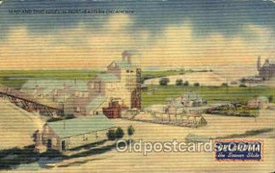 mng001144 - Lead and zinc mines, Oklahoma, USA Mine, Mining, Postcard Postcards