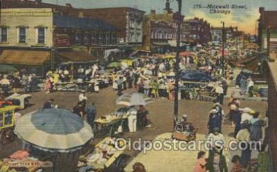 mns001001 - Maxwell Street, Chicago, USA Main Steet Postcard Postcards