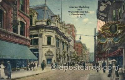 Journal Building & Westminster Street,R.I.