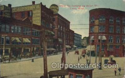 mns001022 - Central Union Street, Lynn, Mass, USA Main Steet Postcard Postcards