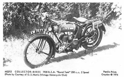 1925 B.S.A Round Tank 250 c.c. 2 Speed