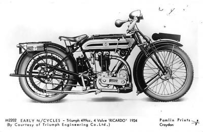 Triumph 499cc 4 Valve Ricardo 1924