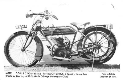 1914 Ixion 2 3/4 H.P. 3 Speed in rear Hub