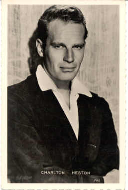 mov008037 - Charlton Heston Actor / Actress Postcard Post Card Old Vintage Antique Movie Star