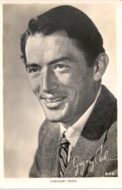 mov015003 - Gregory Peck Actor / Actress Postcard Post Card Old Vintage Antique Movie Star