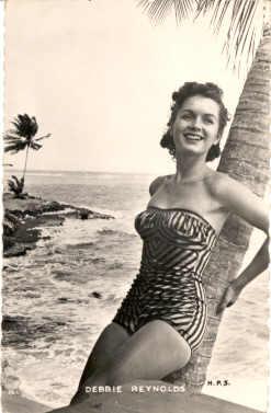 mov016010 - Debbie Reynolds Actor / Actress Postcard Post Card Old Vintage Antique Movie Star