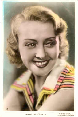 mov135001 - Joan Blondell Actor / Actress Postcard Post Card Old Vintage Antique Movie Star
